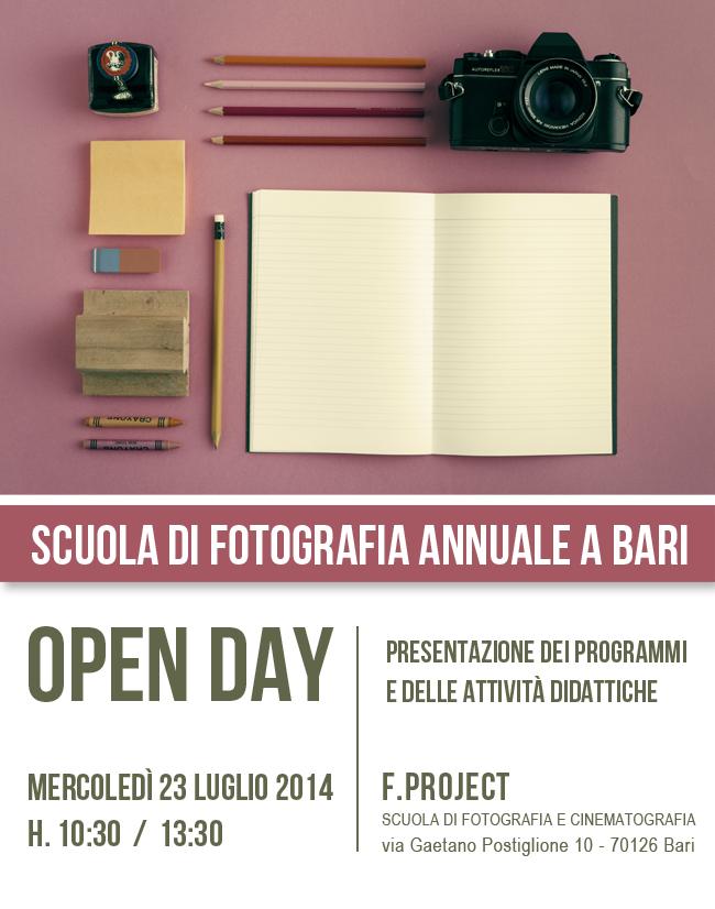 Scuola di fotografia Bari 2014 2015 Open Day di presentazione