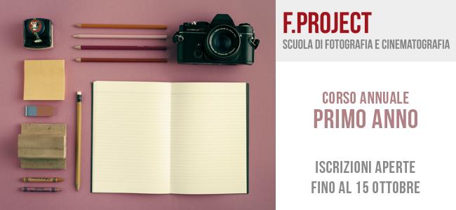 Scuola F.project - iscrizioni aperte fino al 15 ottobre - primo anno