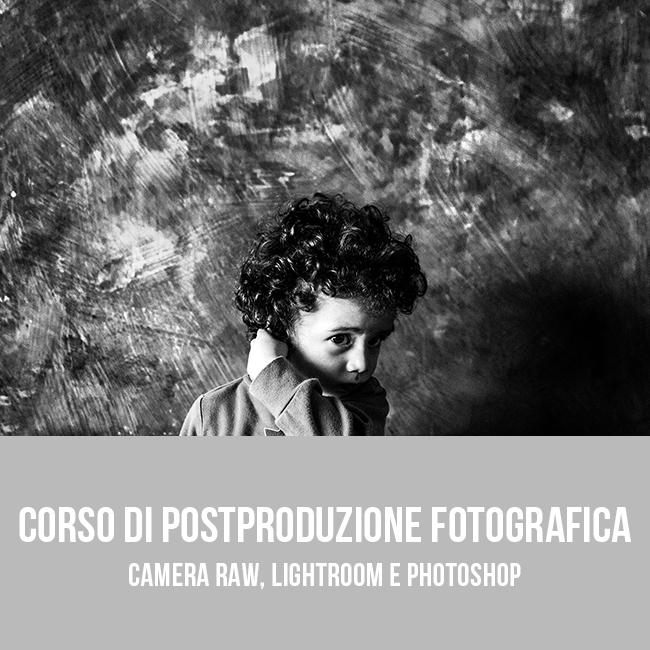 Corso base di postproduzione fotografica a Bari - Puglia (Camera Raw, Lightroom e Photoshop)
