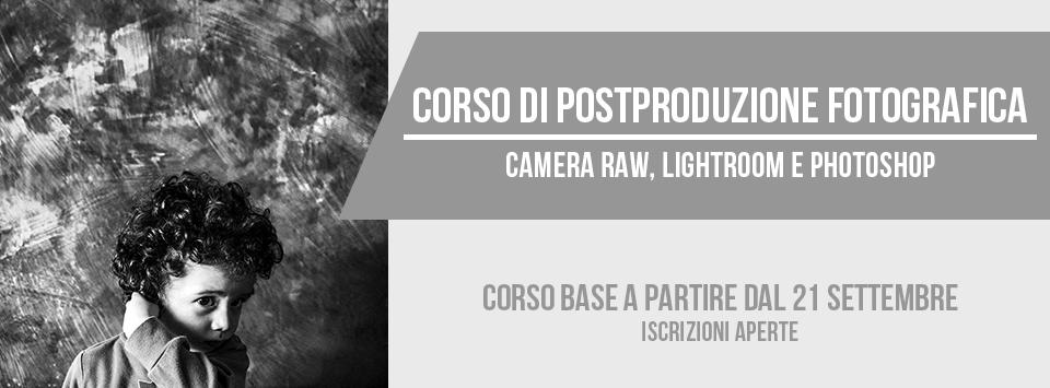 Corso base di postproduzione fotografia a Bari (Puglia) dal 21 settembre 2017