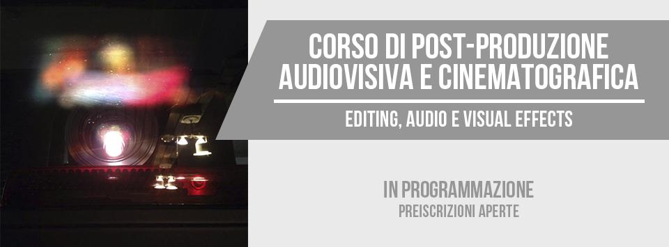 Corso di postproduzione audiovisiva e cinematografica a Bari (Puglia)