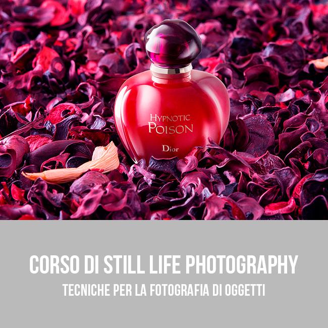 Corso di Still Life photography a Bari - Tecniche per la fotografia di oggetti