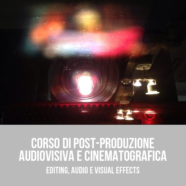 Corso di postproduzione audiovisiva e cinematografica a Bari - Puglia